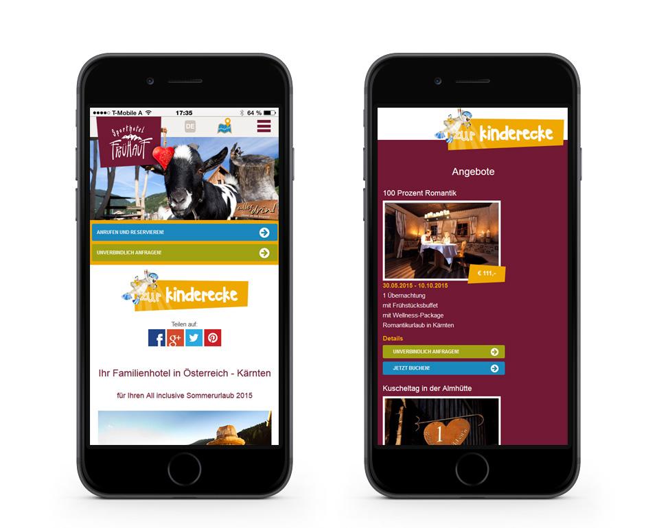 Sporthotel Frühauf - Angebote - Smartphoneansicht