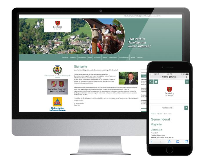 Neue responsive Website Gemeinde Feistritz an der Gail - by WEBWERK