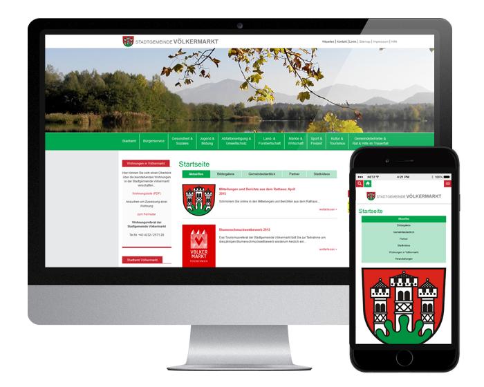 Neue responsive Website Gemeinde Völkermarkt - by WEBWERK