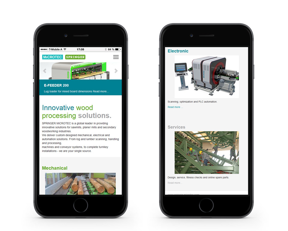 Springer Microtec - News - Smartphoneansicht