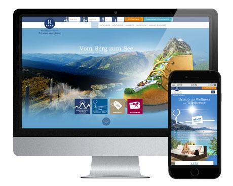 Hinteregger_Dachmarken Portal_Desktop und Smartphone