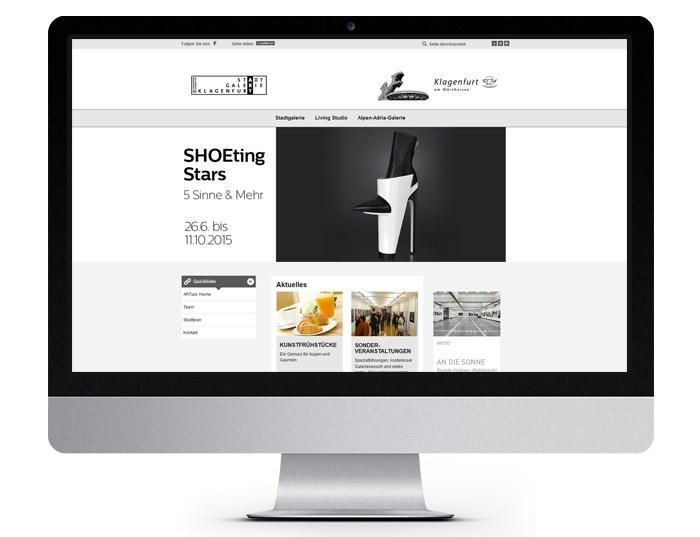 Stadtgalerie Klagenfurt - News - Desktopansicht