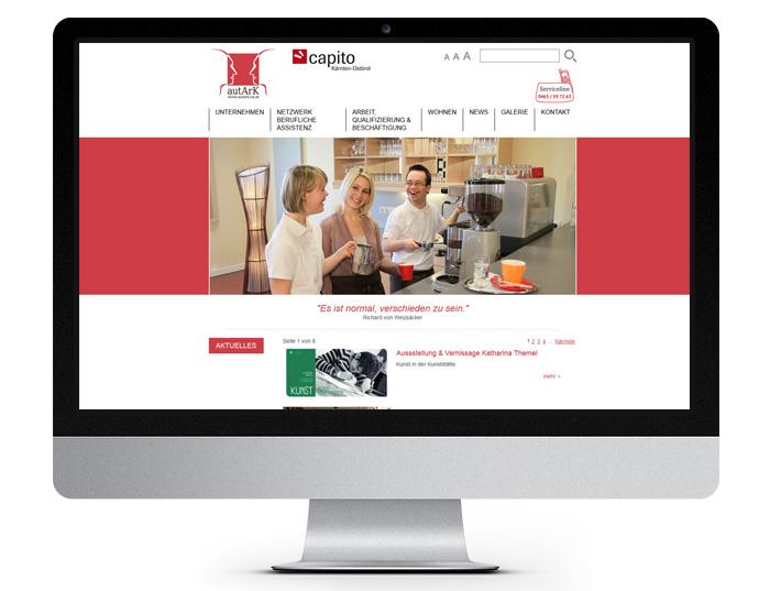 autArK Soziale Dienstleistungs GmbH - Aktuelles - Desktopansicht
