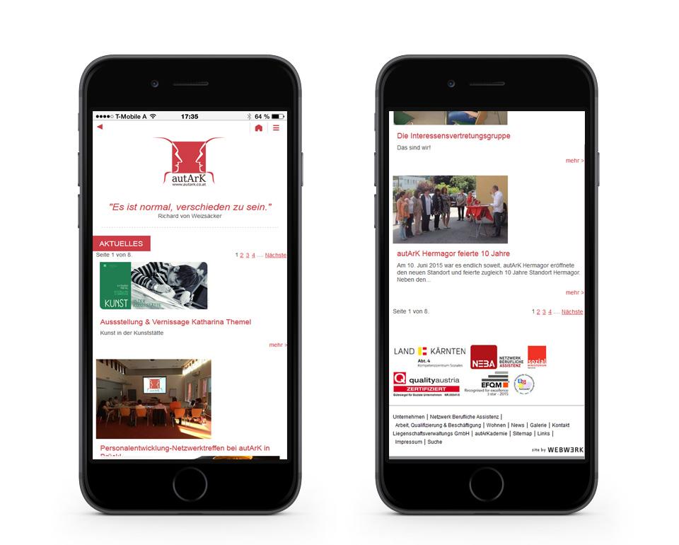 autArk - News - Smartphoneansicht