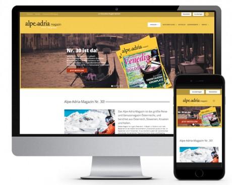Webwerk Referenz Alpe-Adria-Magazin
