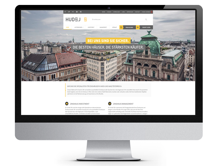 Webwerk Referenz Hudej Zinshausmarkler