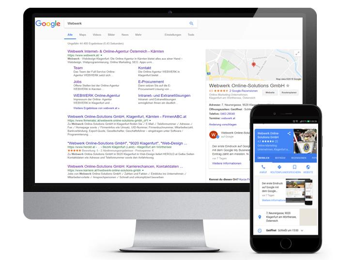 Google My Business Einträge während der Suchmaschinenoptimierung - Aufbereitet durch die Experten im Online Marketing